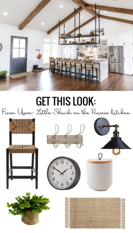 Get the look of the Fixer Upper Little Shack On The Prairie Kitchen featured on Remodelaholic.com
