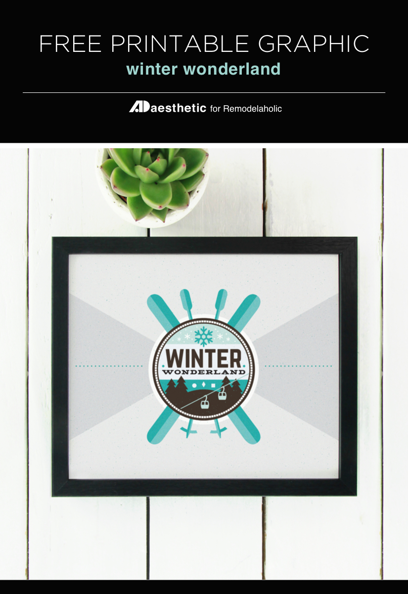 Free Printable Graphic Winter AD Aesthetic For Remodelaholic Vertical