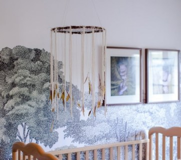 Modern Bohemian Dream Catcher Nursery Mobile DIY Tutorial Remodelaholic
