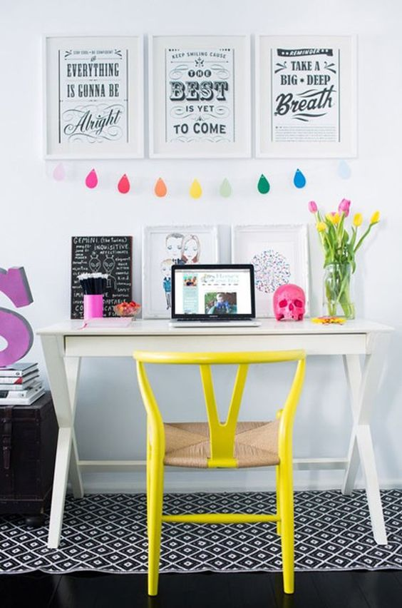 Colorful Home Office Inspiration