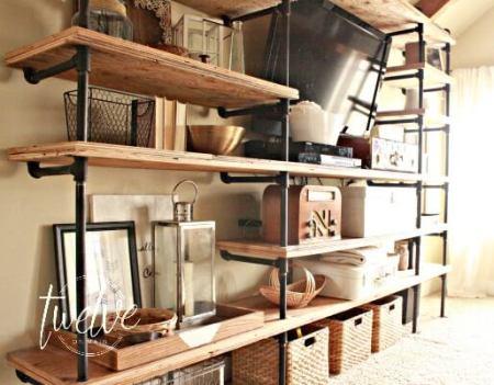 Diy Pipe Shelves 4