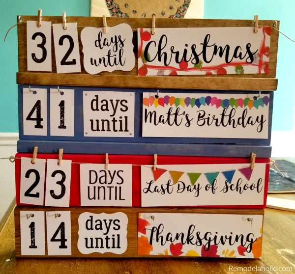 Holiday Countdown Board, All 4, Blog Sized 2