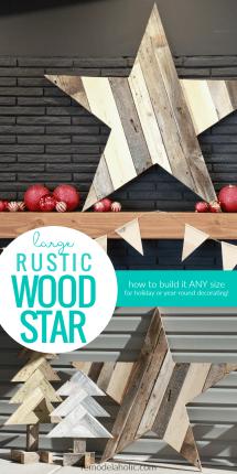 Build Large Rustic Wood Star