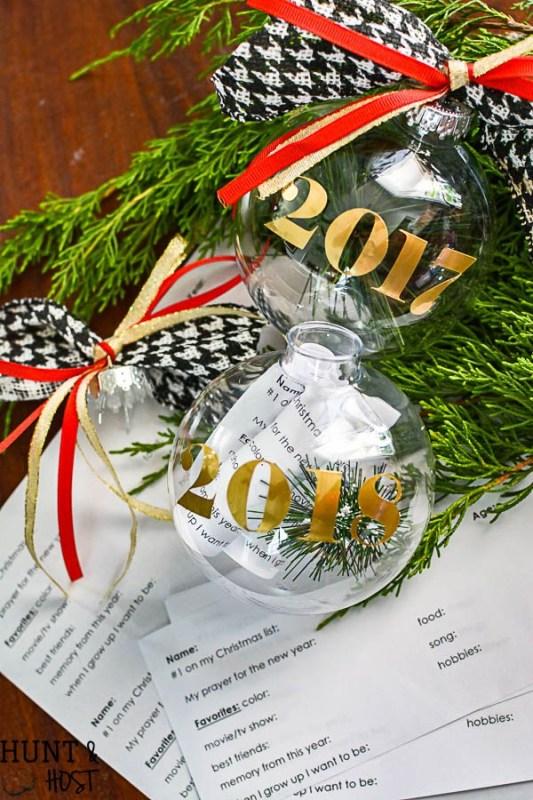 Huntandhost Time Capsule Christmas Ornament