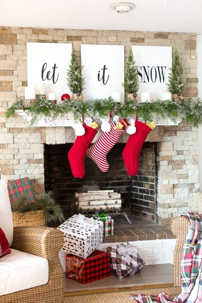 Inmyownstyle Let It Snow Christmas Mantel