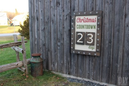 Outdoor Marquee Christmas Countdown, The DIY Dreamer