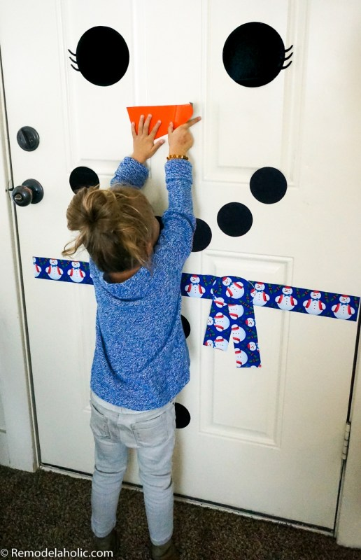 Printable Door Snowman Magnetic @Remodelaholic (2)