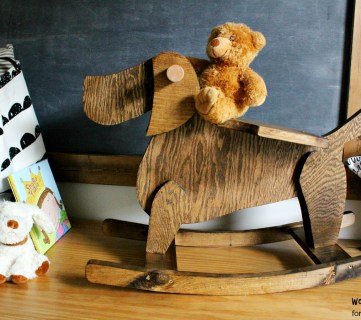 A Classic Rocking Horse Twist: DIY Wooden Rocking Toy Dog