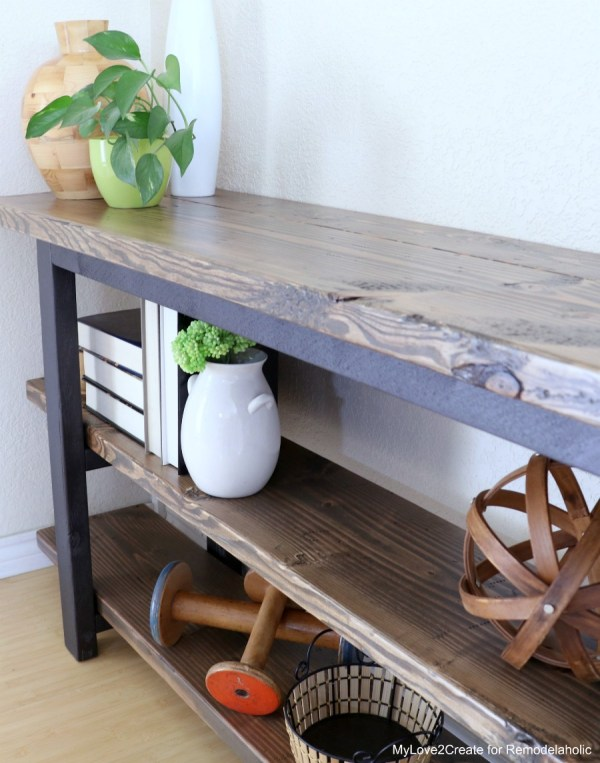 Rustic Industrial Console Table, MyLove2Create