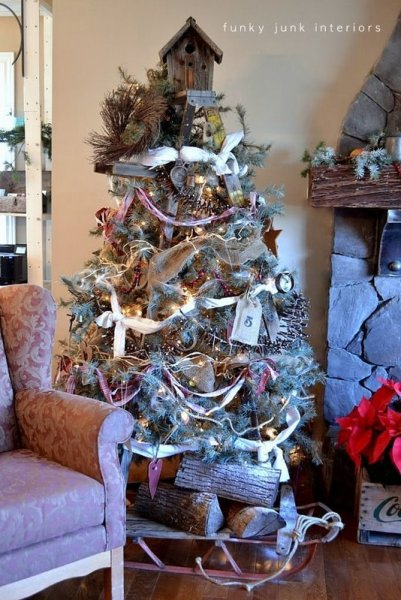Stepladder Christmas Tree Funky Junk Interiors