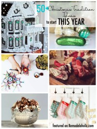 Try something new this Christmas season. 50+ Christmas Tradition Ideas to start this year featured on Remodelaholic.com