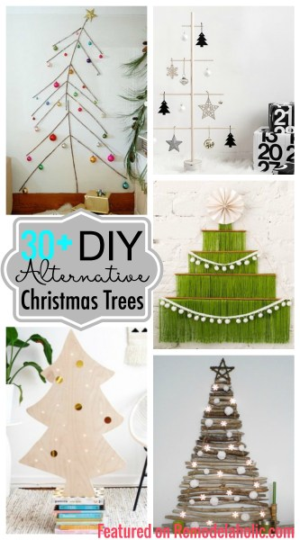 Get a new look for a Christmas tree this year with one of these fun and funky 30+ DIY Alternative Christmas Trees featured on Remodelaholic.com