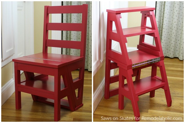 Remodelaholic Diy Ladder Chair How To Build A Folding