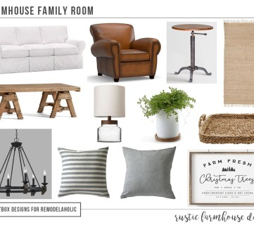 Create a Farmhouse Family Room + How to Style an Open Floor Plan Room