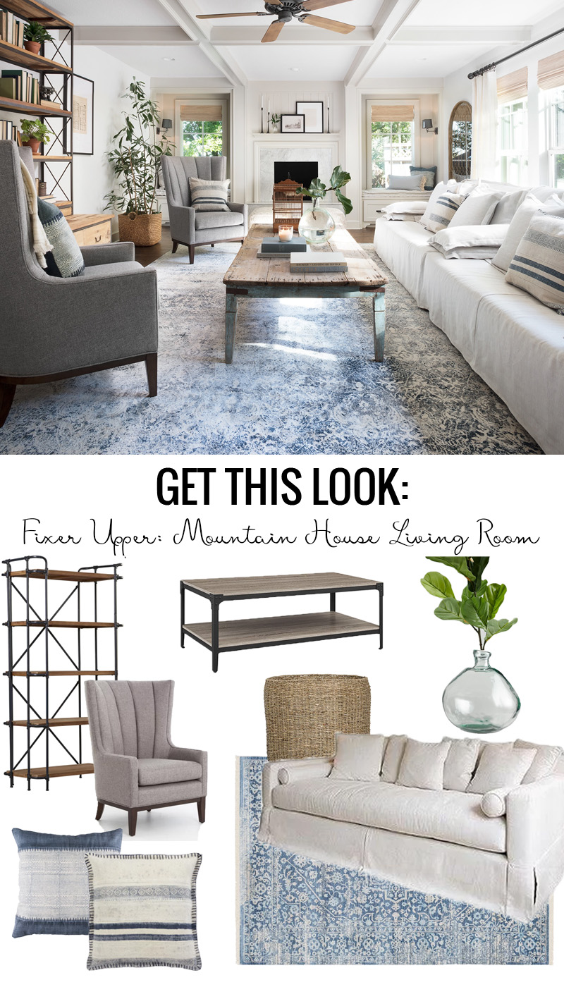 Elegant Get This Look: Fixer Upper Mountain House Living Room