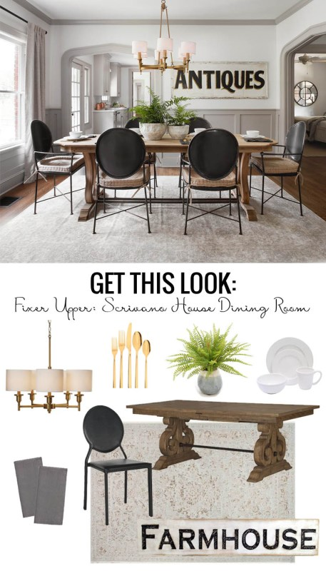 Fixer Upper Scrivano House Dining Room