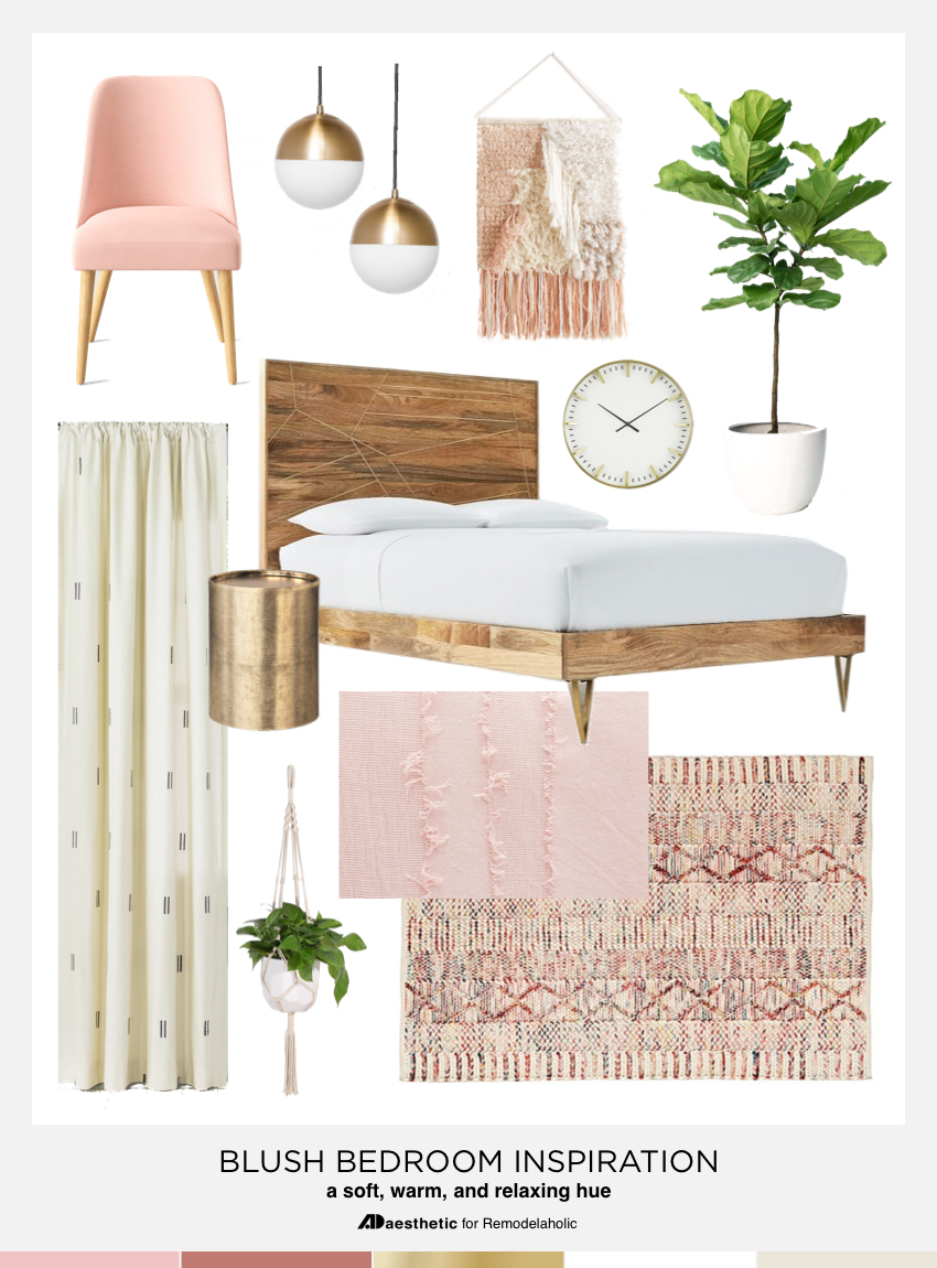 Remodelaholic | Pretty in Pink! Blush Pink Bedroom Inspiration