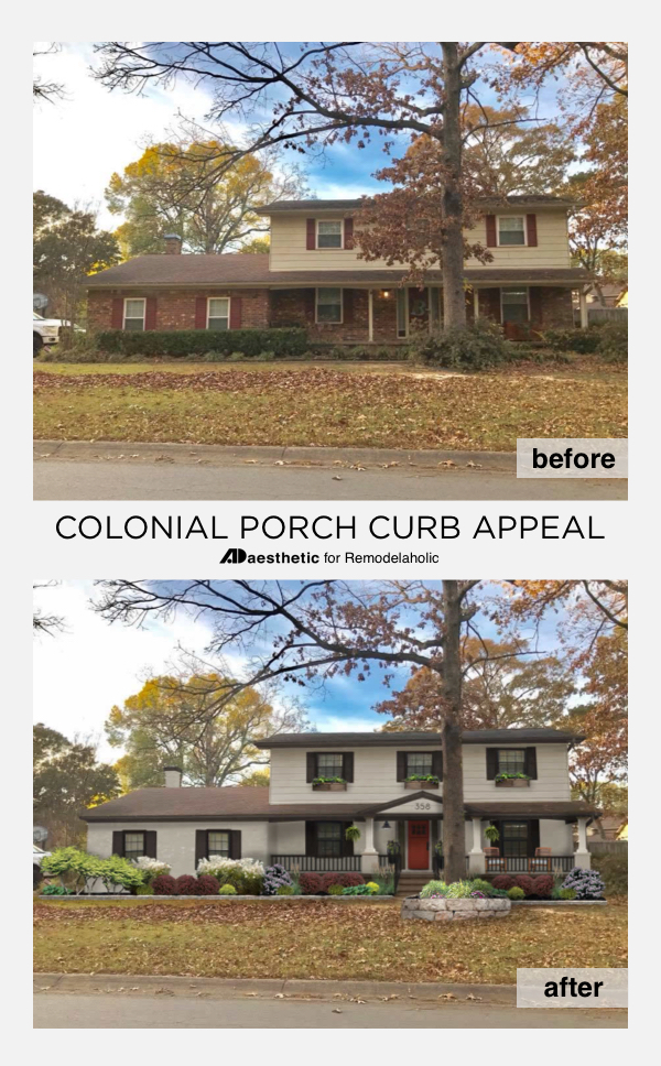 remodelaholic real life rooms colonial porch curb appeal