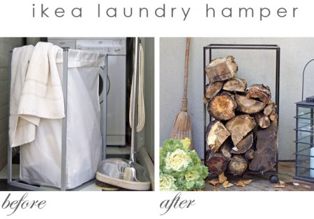 Before And After Ikea Laundry Hamper Hack
