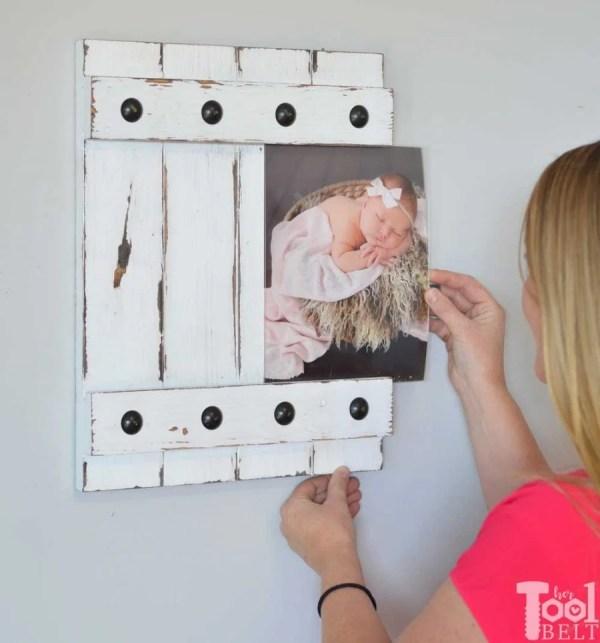 Diy Gift Idea, Farmhouse Style Sliding Picture Frame