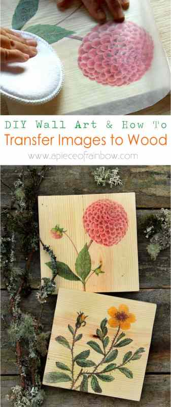Diy Gift Idea, Transfer Free Printable Image To Wood