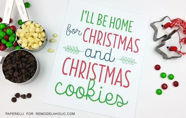 Free Printable Gift Idea, Christmas Cookies Print @Remodelaholic
