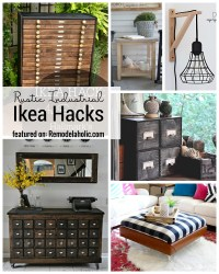 Rustic Industrial IKEA hacks for each room in your home featured on Remodelaholic.com