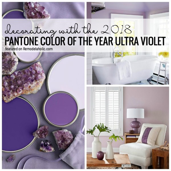 Decorating With The 2018 Pantone Color Of The Year Ultra Violet Featured On Remodelaholic.com