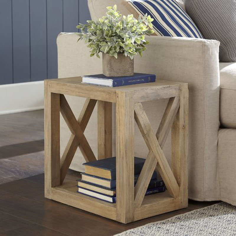 DIY Planked X Farmhouse Side Table: Free Building Plan