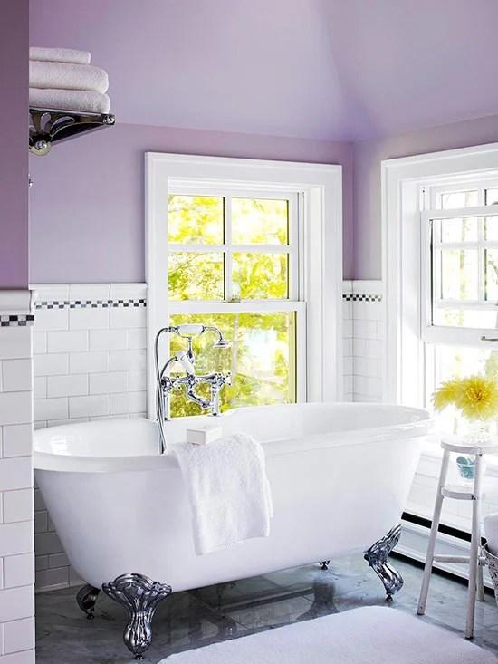 Pale Purple Bathroom Via BHG