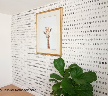 Shoot for the Moon! Easy Budget Friendly DIY Stamped Accent Wall