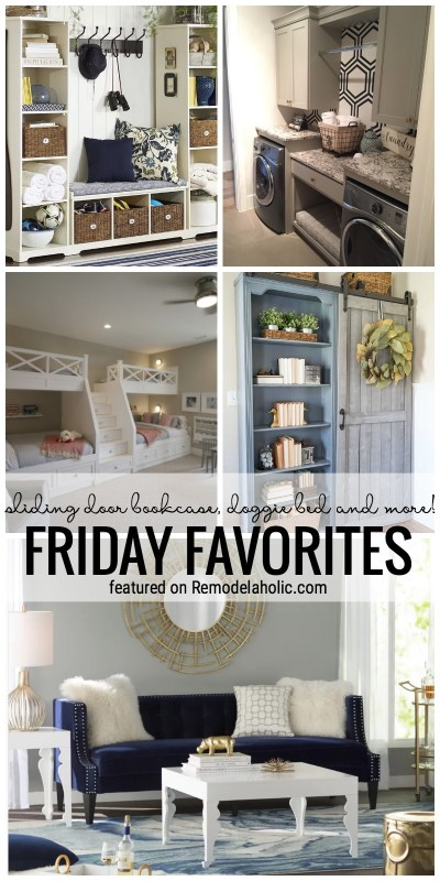 Time To Get Inspired Sliding Door Bookcase Doggie Bed And More Featured In Friday