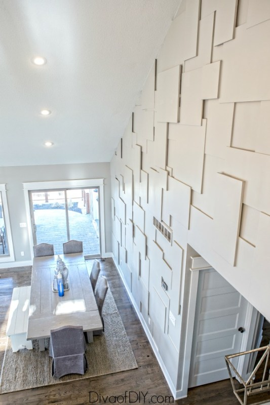 Best DIY Tutorials And Tips, Stacked Plywood Accent Wall Diva Of DIY