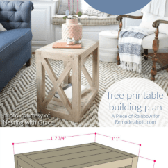 Diy Living Room Side Tables Decorate A Small Apartment Remodelaholic Planked X Farmhouse Table Free Building Plan Build This Versatile Multi Use End