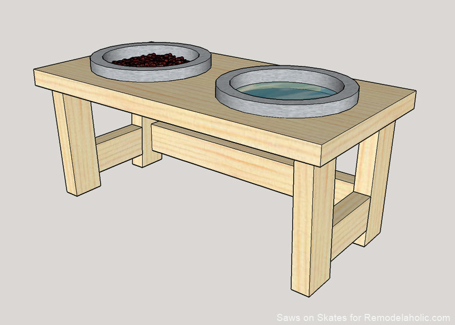 Diy Dog Food Bowl Stand Sos 1