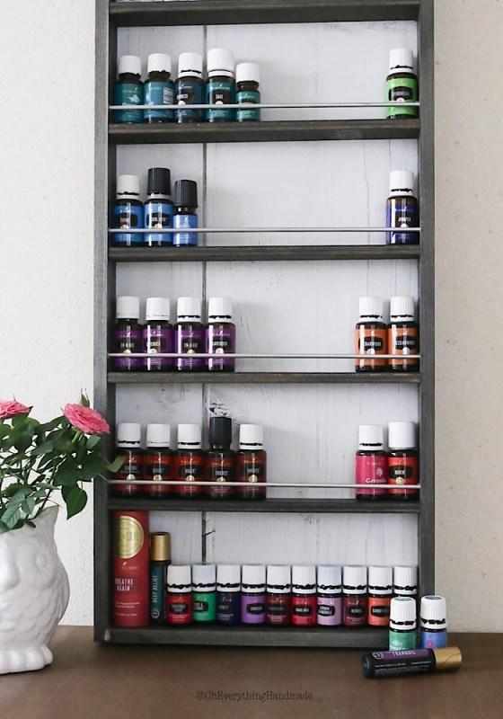 Essential Oil Shelf Organizer