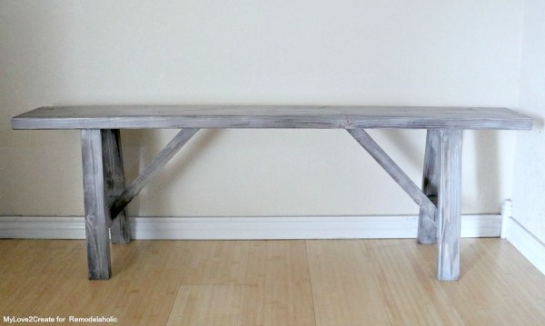 Front Easy DIY Bench, MyLove2Create