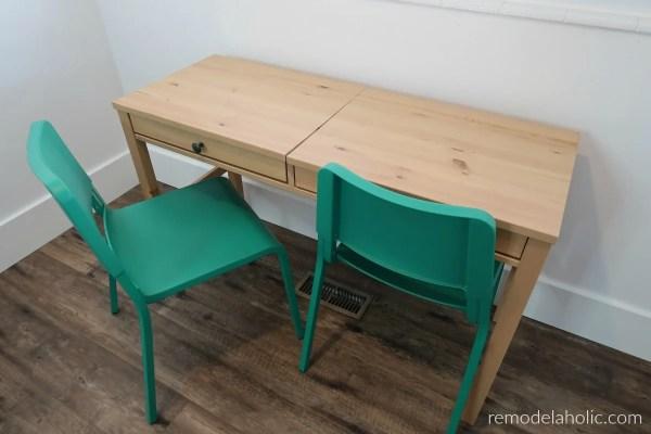 Remodelaholic diy ikea hemnes desk hack into double duty shared