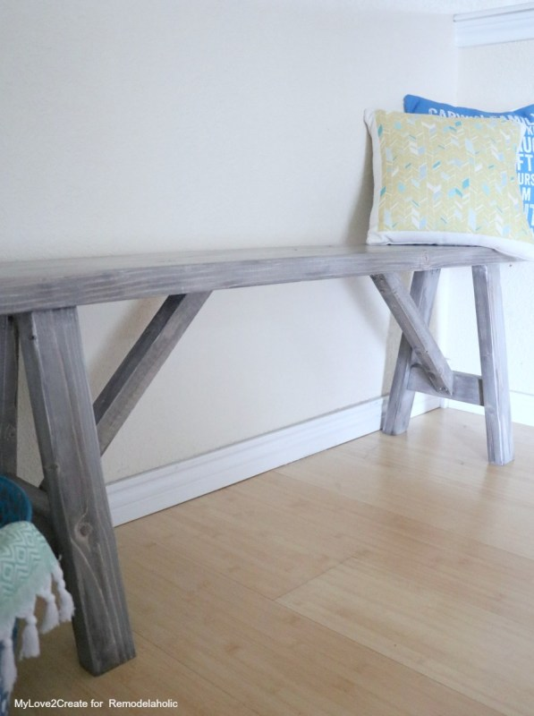 Long Shot Easy DIY Bench, MyLove2Create