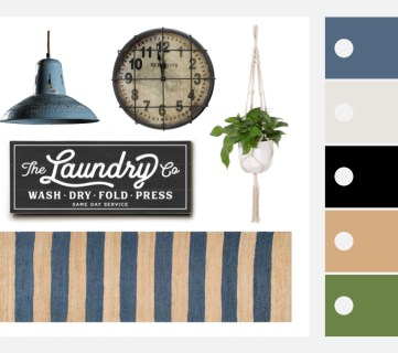 Modern Farmhouse Laundry Room Featured Image