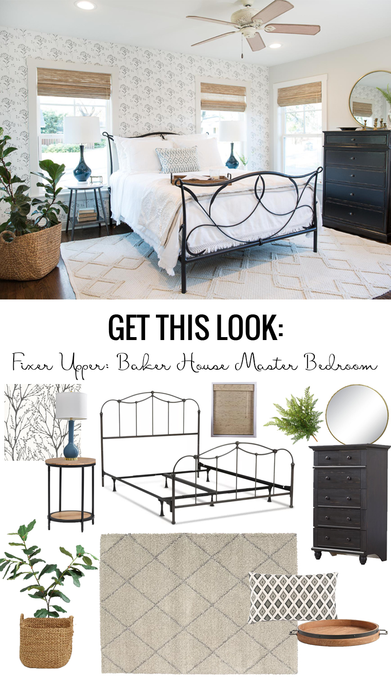 Fixer Upper Baker House Master Bedroom: Get This Look ideas featured on Remodelaholic.com
