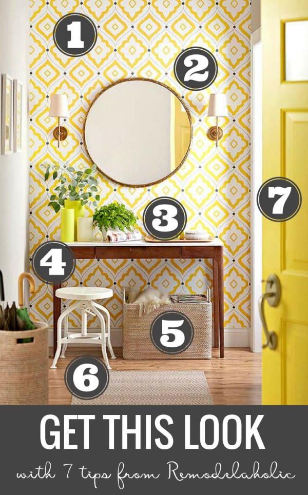 Remodelaholic Get This Look Cheerful Contemporary Entryway
