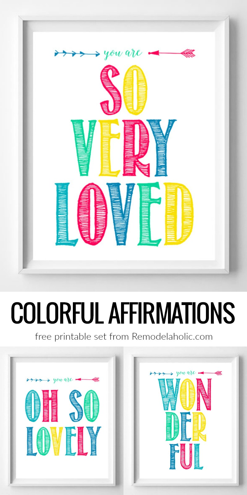 Remodelaholic | You Are Loved: Colorful Inspirational ...