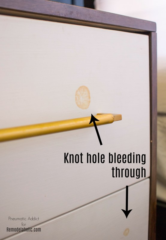 Knot Hole White Paint Tanin Stain Wood WM