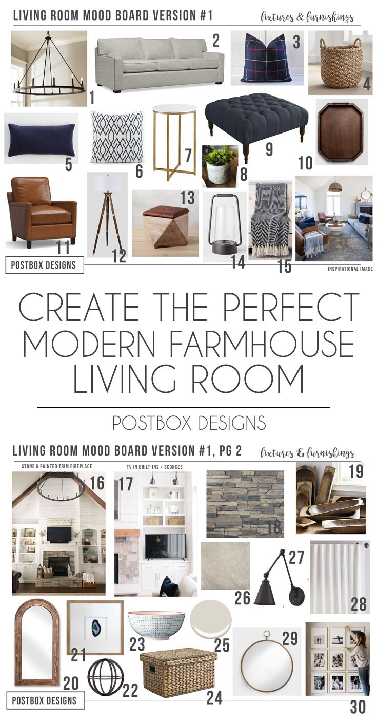postbox designs 1200 modern farmhouse family room design farmhouse family room makeover - Modern Farmhouse Living Room