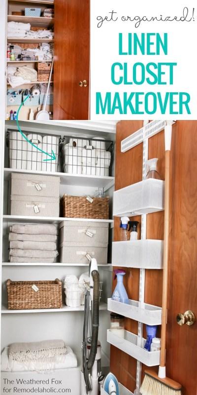 Remodelaholic Organized Linen Closet Makeover
