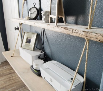 Nautical Organization: Easy DIY Floating Rope Shelf