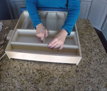 Remodelaholic Removable Utensil Drawer Organizer Step 10