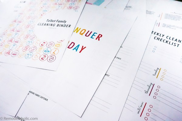 DIY Cleaning Binder Printable Set, Spring Cleaning Checklist, And Kids Chore Chart @Remodelaholic (2)