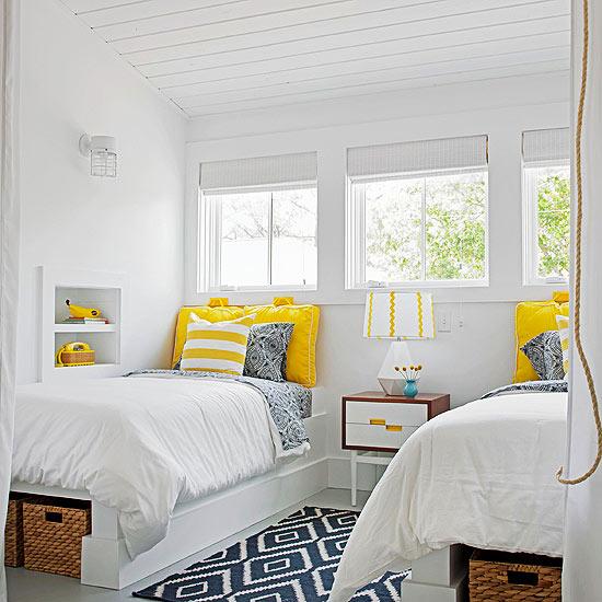 Remodelaholic Color Files Marigold Shared Boys Room